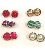 Snap Buttons 12 mm Set of 6 Pairs for Earrings, Bracelets, Necklaces, Je... - $7.70
