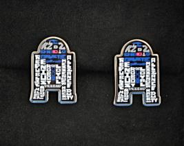 Star Wars R2D2 Men's Cufflinks Lucasfilm Typography Droid Wedding Fashion w/Box - $52.95