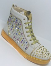 Men's J75 Jump Sensie - White High Top Fashion Sneakers  - $250.00