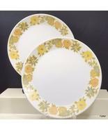 Noritake Progression Sunny Side Salad Plates Set of 2 White Yellow Orang... - $13.86