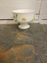 Royal Victoria Fine Bone China Yellow Dogwood Footed Sherbert Dish Engla... - $5.93