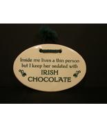 Mountaine Meadows Pottery Plaque/ Irish Chocolate Sedation - $2.90