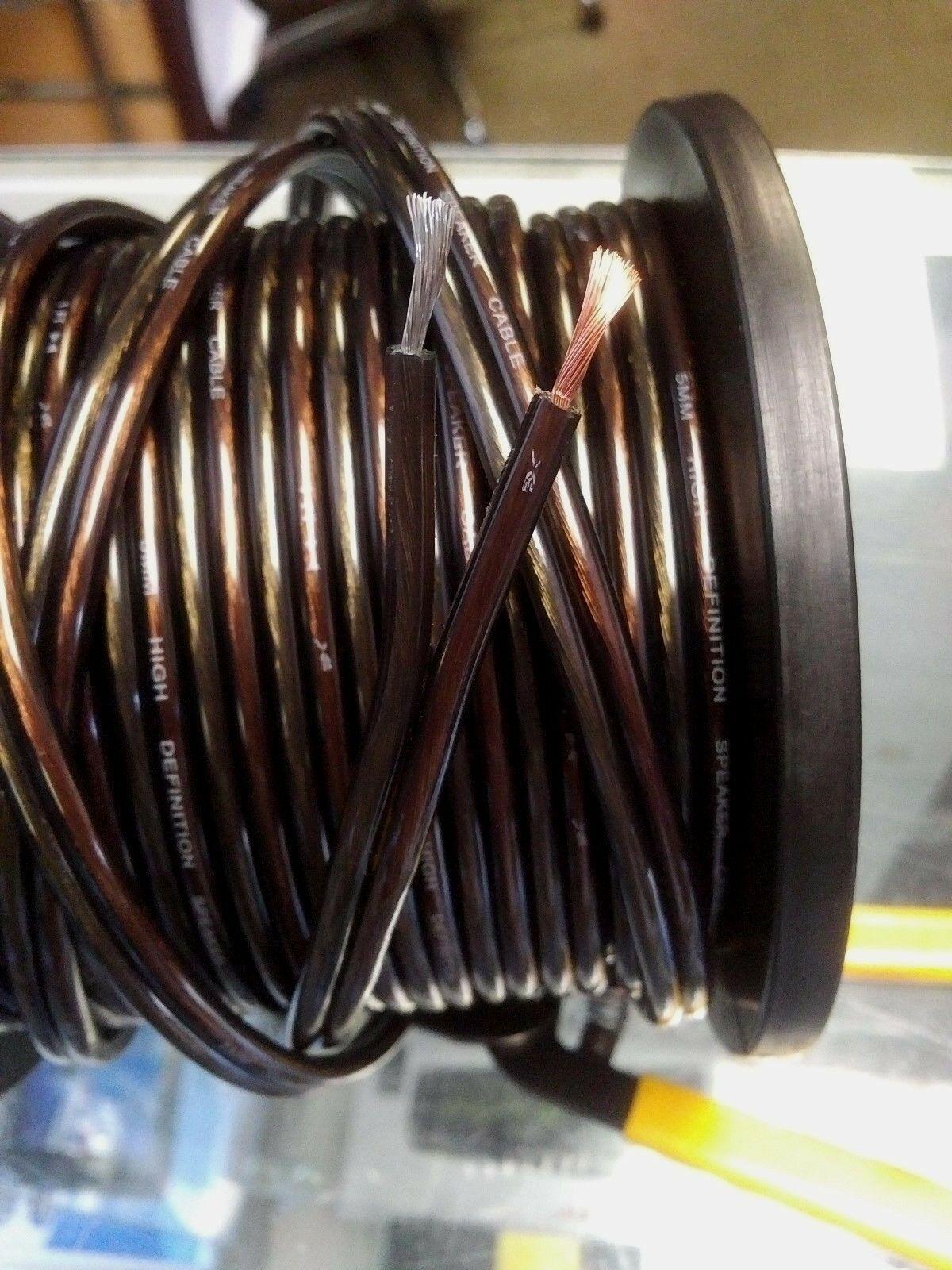 25 ft of Car/Home Audio 5 mm (12 Gauge) fine strand Speaker Wire