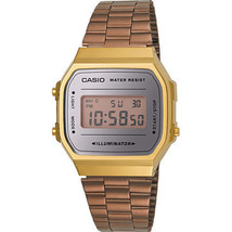 Casio Vintage A168WECM-5D Rose Gold Digital Watch - $91.55 CAD