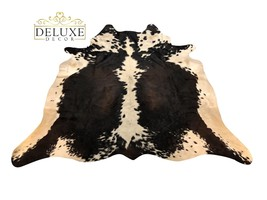 Medium Tricolor Cow hide Rug Natural Hair on Cowhide Print Skin Area Rug... - $107.53