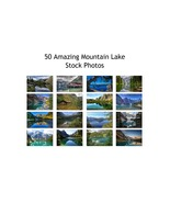 Mountain Lakes 50 Scenic Stock Photos High Quality Images 300 DPI - $50.00