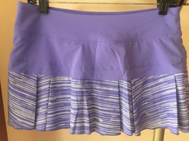 Nike DriFIT Woven Printed Pleated Tennis Skort - Court Purple Sz Med - M... - $29.69