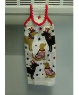 Patriotic Dogs Hanging Towel, Style 3 - $3.25