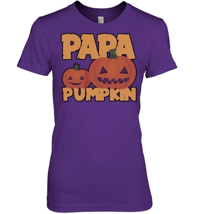 Funny Halloween Tshirt Papa Pumpkin Grandpa Carved