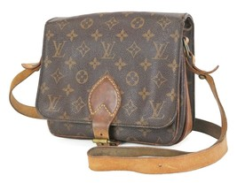Authentic LOUIS VUITTON Cartouchiere MM Monogram Shoulder Bag Purse #35286 - $285.00