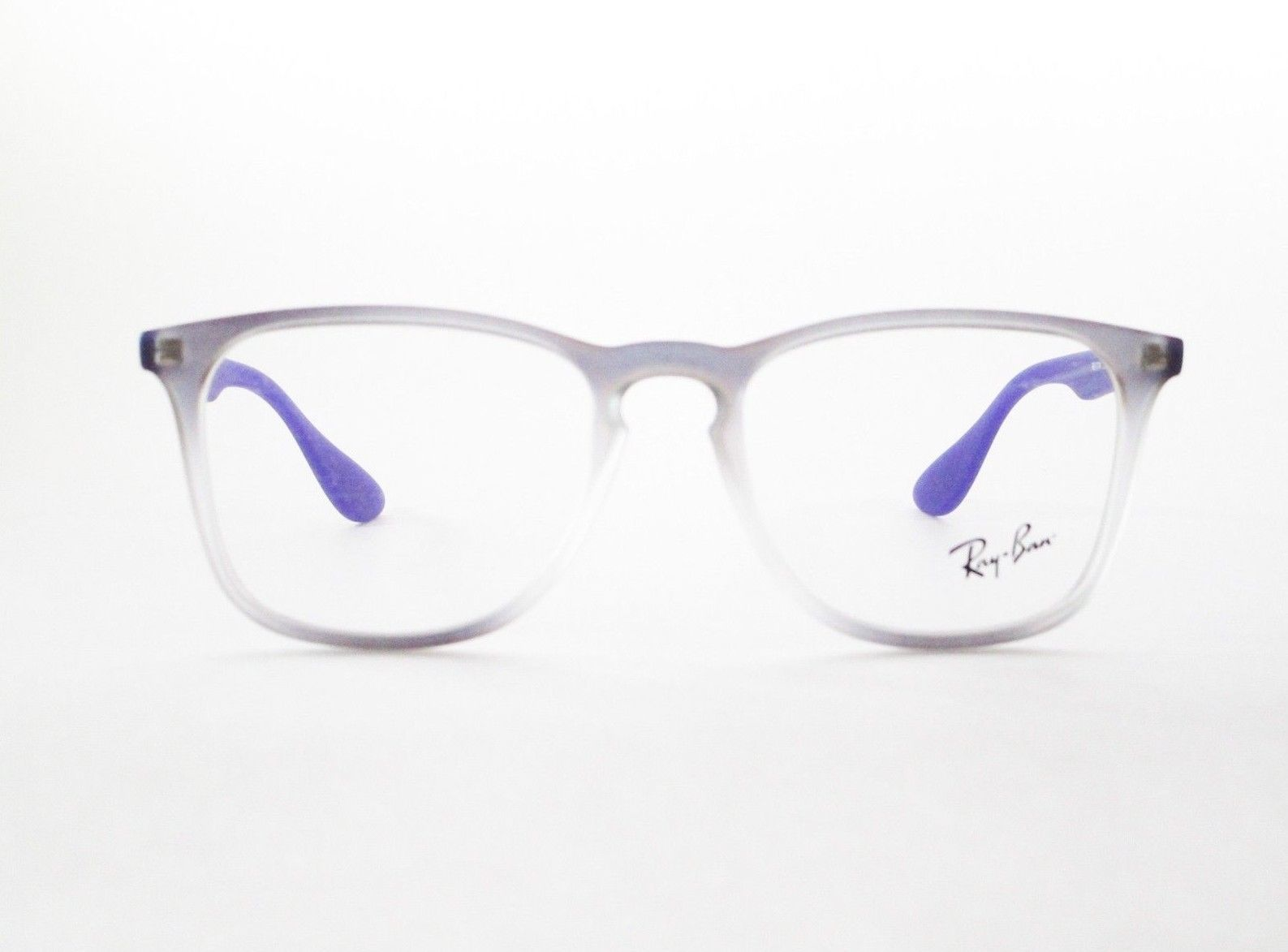 40e0f4f56db RayBan RB 7074 5600 Optical Frame Round Violet Iridescent Glasses