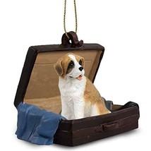 Conversation Concepts Saint Bernard W/Rough Coat Traveling Companion Ornament - $15.99