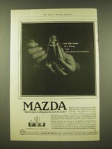 1918 General electric Mazda light bulb Ad - Not the name of a thing - $14.99