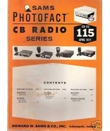 Sams Photofact CB Radio CB-115 April 1977 - $5.00