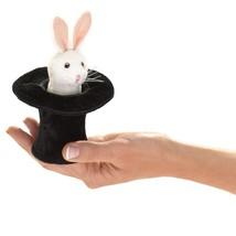 Folkmanis Mini Rabbit in Hat Finger Puppet - $11.27
