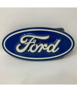 VTG Siskiyou Oval Blue Ford Logo Script Belt Buckle Motor Company Car Me... - $49.49
