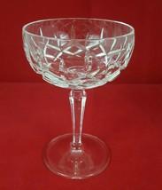 "Gorham Lady Anne Crystal Champagne Sherbet Glasse 5 1/2"" Stemware w/ Defect - $21.99"