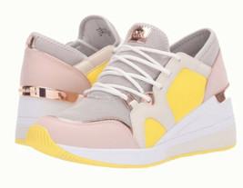 Michael Kors Liv Trainer Sneakers Mesh/Leather White/Aluminum Women's Sz... - $89.09