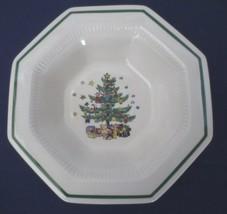 Nikko Christmastime Serving Vegetable Bowl Octagon shape Christmas tree - $15.00
