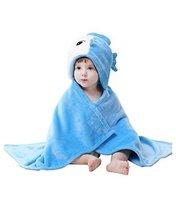 Baby Flannel Blanket/Infant Spring and Summer Quilt Blue