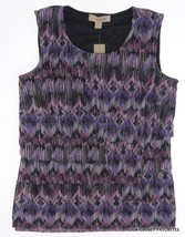Laura Ashley Womens S Small Layered Tiers Tank Blouse Top Classy - $16.33