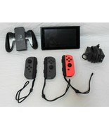 Nintendo Switch Black Tablet HAC-001 32GB 3 Joy-Con Ships Charger 1st Ge... - $369.99