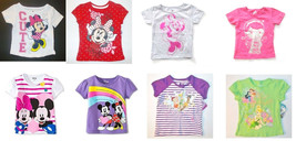Disney Toddler Girls T-Shirts Minnie Mouse Fairies Doc McStuffins Many S... - $9.79
