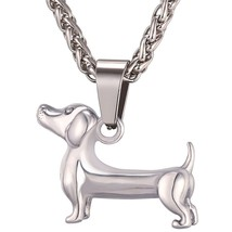 U7 Dachshund Necklace Gold Color Stainless Steel Pendant & Chain For Men... - $12.55