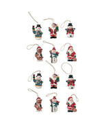 HOLIDAY CRAFT Resin Ornaments - Christmas Figures - 1 inch - 12 PC #2450-87 - $0.99