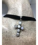 Vintage Rainbow Moonstone Cross Genuine Purple Amethyst Silver Pendant - $95.04