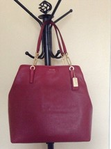 NWT! Coach Madison North/South Tote Leather in Scarlet Red. Perfect gift... - $224.00