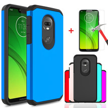 For Motorola Moto G7 Power/G7 Supra Case Cover Armor With Glass Screen P... - $18.00