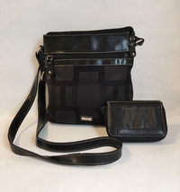 Nine West Purse Bi-Fold Wallet Black Cross Body Shoulder Bag Billfold Clutch  - $29.00