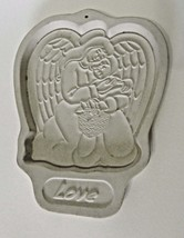 Longaberger Pottery Cookie Mold Love in the Angel Series 1995 Made in th... - $12.86