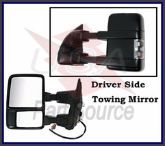 Driver Side Mirror for Ford F250 F350 F450 Power Heated Towing w/ Signal Clear - $98.90