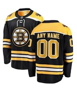 Men's Jersey Sewn on Boston Bruins Black Home New Custom Name and Numer ... - $75.19
