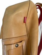 """Vintage BREE Bag Tan Leather Backpack Bag Day Pack 14.5"""" H x 12"""" W x 6"""" Poland image 10"""