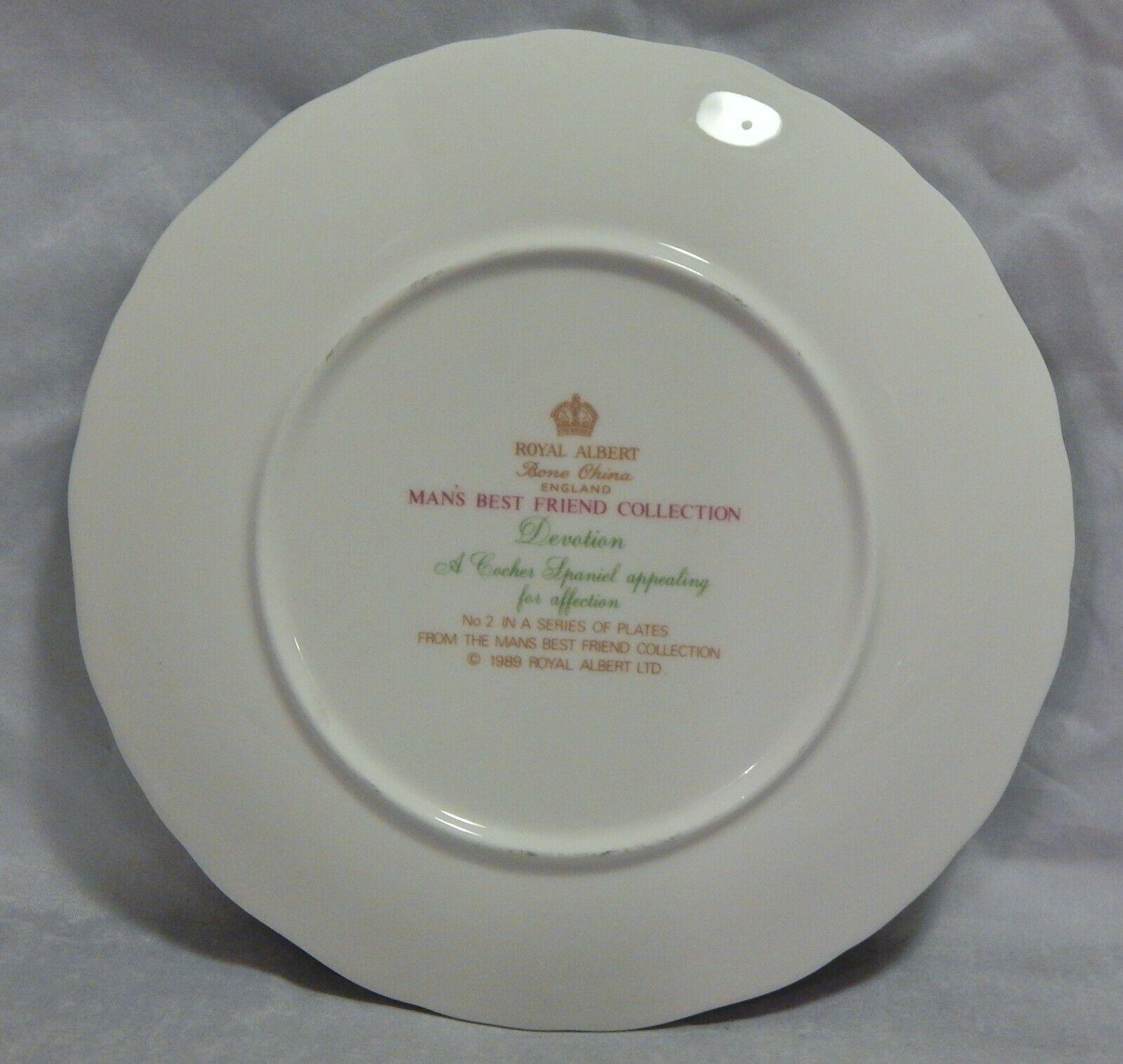Royal Albert Man's Best Friend Collection Cocker Spaniel Plate