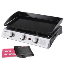Portable Propane Gas Grill Burners Tabletop Griddle Stainless Steel Pane... - £127.57 GBP