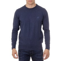 Dark Blue L Ufford & Suffolk Polo Club Mens Sweater Long Sleeves Round N... - ₨4,085.82 INR