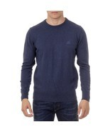 Dark Blue L Ufford & Suffolk Polo Club Mens Sweater Long Sleeves Round N... - $63.59