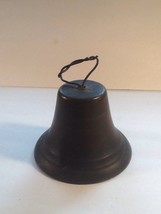 Antique Metal Bell Possibly Bronze Or Copper - $96.75
