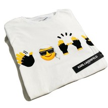 Karl Lagerfeld Paris Karl Emoji T-Shirt Sz Small - $58.04