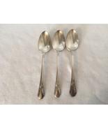 3 Wm Rogers Avalon Cabin Teaspoons Silverplate Teaspoon 21003 Spoon Tea ... - $23.09