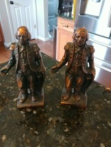 "Lot 2 VTG Cast Iron George Washington Coin Banks 6.5"" Tall Heavy Collect... - $49.95"