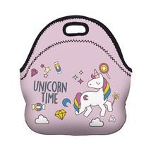 3D Neoprene Lunch Bag Unicorn Time Portable for Women Picnic Snack Break... - €13,79 EUR
