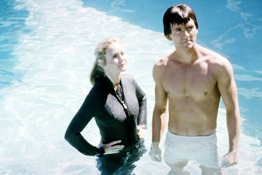 Patrick Duffy in Man from Atlantis barechested with Belinda Montgomery in wetsui - $23.99