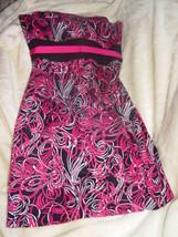 Ann Taylor Loft Strapless Formal Black, White & Pink Dress Size 8 - $27.00