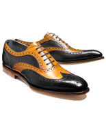 New Leather shoes for Men Two tone Custom Made Dress shoes for Men Top ... - $215.27 CAD+