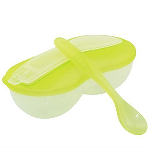 Feeding Baby Grinding Food Spoon And Bowl Baby Tableware(Green)